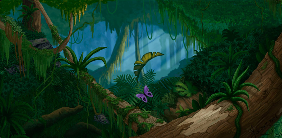 Concept Art and Design for Jungle Scene - Graphic Design, Web ...